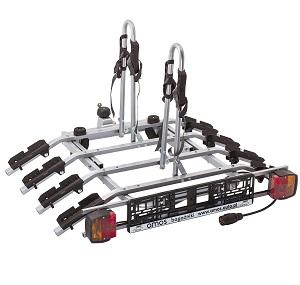 Платформа для перевозки 4-х велосипедов на фаркопе AMOS TYTAN-4 PLUS