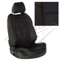 Авточехлы на сидения для Hyundai Porter I (3 места) - черн+альк. черная