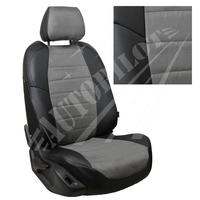 Авточехлы на сидения для Peugeot Partner Tepee / Citroen Berlingo II (2 места) с 08г. - черн+альк. серая