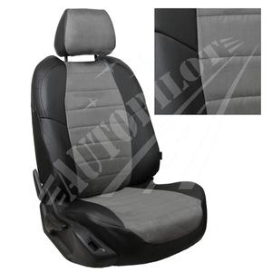 Авточехлы на сидения для Mazda CX-5 (три отд. кресла) Touring, Active с 11-17г. - черн+альк. серая