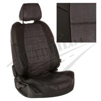 Авточехлы на сидения для Kia Cerato II Coupe 2-х дв. c 09-13г. - черн+альк. темно серая