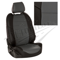 Авточехлы на сидения для Kia Cerato II Coupe 2-х дв. c 09-13г. - черный+серый