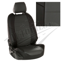 Авточехлы на сидения для Kia Cerato II Coupe 2-х дв. c 09-13г. - черный+темно серый