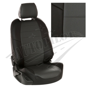 Авточехлы на сидения для Hyundai Tucson I c 04-10г./ Kia Sportage II c 04-08г. - черный+темно серый