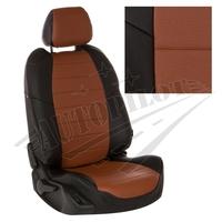 Авточехлы на сидения для Lada Largus (2 места) - черный+коричневый