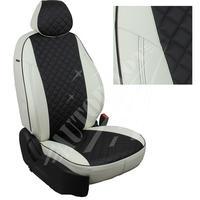 Авточехлы на сидения для Fiat Dukato 3 места с 06г./Peugeot Boxer/Citroen Jumper - белый+черный РОМБ
