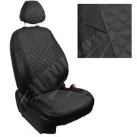 Авточехлы на сидения для Fiat Dukato 3 места с 06г./Peugeot Boxer/Citroen Jumper - черн+альк. серая РОМБ