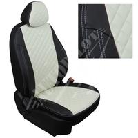 Авточехлы на сидения для Kia Cerato II Coupe 2-х дв. c 09-13г.  - черный+белый РОМБ