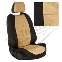 Авточехлы на сидения для Hyundai Porter I (3 места) - черный+бежевый