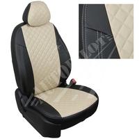 Авточехлы на сидения для Peugeot Partner Tepee / Citroen Berlingo II (2 места) с 08г. - черный+бежевый РОМБ
