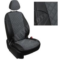 Авточехлы на сидения для Fiat Dukato 3 места с 06г./Peugeot Boxer/Citroen Jumper - черн+альк. темно серая РОМБ