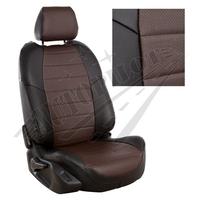 Авточехлы на сидения для Kia Cerato II Coupe 2-х дв. c 09-13г. - черный+шоколад