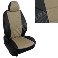 Авточехлы на сидения для Hyundai Porter I (3 места) - черный+темно бежевый