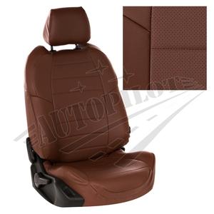 Авточехлы на сидения для Mazda CX-5 (три отд. кресла) Touring, Active с 11-17г. - темно коричневый