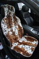 Меховая накидка Автопилот на переднее сиденье из натурального меха, окрас Леопард. Белая с рыжим.