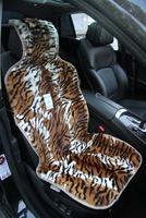 Меховая накидка Автопилот на переднее сиденье из натурального меха, окрас Тигр. Оранжевая с белым.