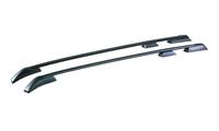 Рейлинги на крышу для Land Rover Freelander 2 профиль с пазом, черные