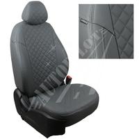 Авточехлы на сидения для Volkswagen T-5 (2 места) до рестайлинга с 03-09г. - серые РОМБ