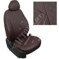 Авточехлы на сидения для Fiat Dukato 3 места с 06г./Peugeot Boxer/Citroen Jumper - шоколад РОМБ