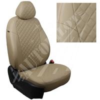 Авточехлы на сидения для Citroen Jumper  - темно бежевый РОМБ