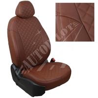 Авточехлы на сидения для Lada Largus (2 места) - темно коричневый РОМБ