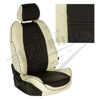Авточехлы на сидения для Peugeot Partner Tepee / Citroen Berlingo II (2 места) с 08г. - белый+черный