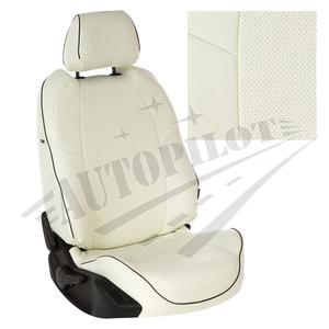 Авточехлы на сидения для Mazda CX-5 (три отд. кресла) Touring, Active с 11-17г. - белые