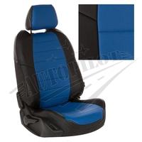 Авточехлы на сидения для Ford Tourneo I (2 места) с 03-13г. - черный+синий