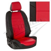 Авточехлы на сидения для Ford Tourneo I (2 места) с 03-13г. - черный+красный