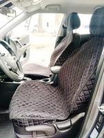 Накидки (комплект 2 штуки) на передние сиденья С БОКАМИ велюр черные РОМБ