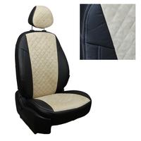 Авточехлы на сидения для Mazda CX-5 (три отд. кресла) Touring, Active с 11-17г. - черный+альк.бежевая РОМБ