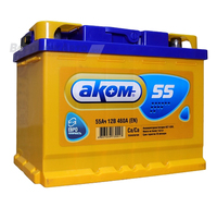 Аккумулятор АКОМ 55 А/ч прямая L+ EN 460A 242x175x190