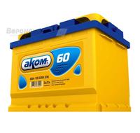 Аккумулятор АКОМ 60 А/ч обратная R+ EN 520A 242x175x190