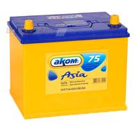 Аккумулятор АКОМ ASIA 75 А/ч обратная R+ EN 630A 260x173x225
