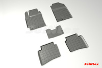 Резиновый коврик Seintex с бортиком для Kia Rio X-Line 2018-