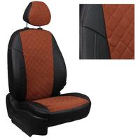 Авточехлы на сидения для Mazda CX-5 (три отд. кресла) Touring, Active с 11-17г.  - черный+альк.коричневая РОМБ