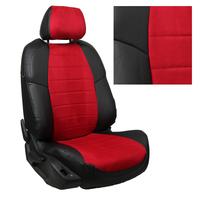 Авточехлы на сидения для Citroen С-4 Hb 3-х дв. с 04-11г. - черный+альк.красная