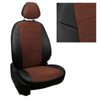 Авточехлы на сидения для Peugeot Partner Tepee / Citroen Berlingo II (2 места) с 08г. - черный+альк.шоколад