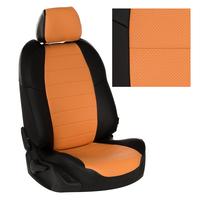 Авточехлы на сидения для Mazda CX-5 (три отд. кресла) Touring, Active с 11-17г. - черный+оранжевый