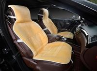 Меховая накидка на переднее сиденье, искусственный мех. Бежевая