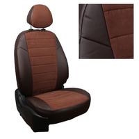 Авточехлы на сидения для Lada Largus (2 места) - шоколад+альк.шоколад