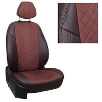 Авточехлы на сидения для Hyundai Tucson I c 04-10г./ Kia Sportage II c 04-08г. - шоколад+альк.шоколад РОМБ