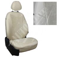 Авточехлы на сидения для Lada Largus (2 места) - беж+альк.бежевая