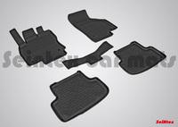 Резиновый коврик Seintex с бортиком для AUDI A3 2012-