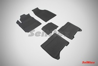 Резиновый коврик Seintex с бортиком для Chery BONUS III 2014-