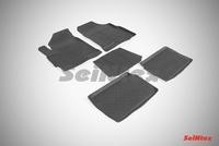 Резиновый коврик Seintex с бортиком для Chery TIGGO V 2012-
