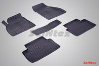 Резиновый коврик Seintex с бортиком для Chevrolet MALIBU 2011-