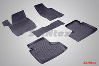 Резиновый коврик Seintex с бортиком для Chevrolet NIVA 2002-