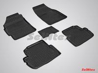 Резиновый коврик Seintex с бортиком для Chevrolet SPARK 2010-