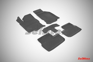 Резиновый коврик Seintex с бортиком для Datsun mi-DO 2014-